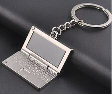 Cute Creative Folio Folded Notebook Computer Design Keyring Keychain Keyfob Gift