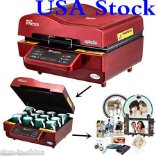USA-110V FREESUB 3D Sublimation Heat Press Machine for Phone Cases Mugs Cups