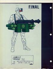 """G.I. GI Joe Heavy Duty Ordinance Unit Model Cel """"PHOTO"""" 80-90's Cartoon 1990 Dic"""