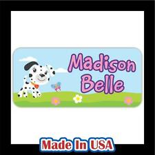 42 Personalized Waterproof Name Labels Stickers Tag Kids Baby Children Bottle