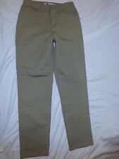 FADED GLORY Stretch WOMEN'S Tan Denim JEANS Size 8 Cotton Spandex EUC
