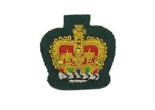 Badge Queen's Crown Gold on Green size 1 1/2'' R1785