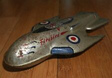VINTAGE METTOY Firebird SPACE SHIP Fighter Jet BANDA STAGNATA TOY RARE ANNI 1950 DAN DARE