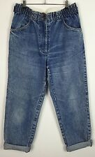 WOMENS HIGH WAISTED VINTAGE RENEWAL FESTIVAL GRUNGE URBAN MOM MADONNA JEANS W32