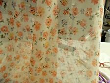 "VINTAGE COTTON VOILE~PEACH/SALMON/BLUE~TINY FLORAL PRINT~DOLL FABRIC~18""x42"""