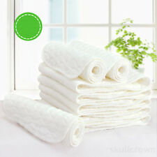 10 pcs 3 Layers Cotton Baby Cloth Diaper Liners Re-usable Nappies Adjustable new