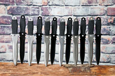 Light and Dark Throwing Knife 12 Piece Set Heavy Throwing Knives With Pouch
