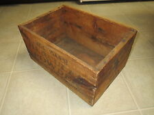 Hercules Powder 25 lb Explosives Dynamite Wood Box Mining