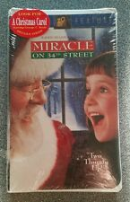New! Factory Sealed! Miracle on 34th Street (VHS, 1995)