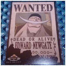 Legend!! Mugiwara Store One Piece Wanted Poster Bromide Card Edward Newgate