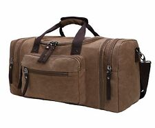 Large Capacity Canvas Unisex Travel Duffel Bag Shoulder Handbag Weekend Bag