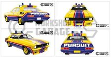 Mad Max Yellow Interceptor / Pursuit Big Bopper movie car sticker - Large Set