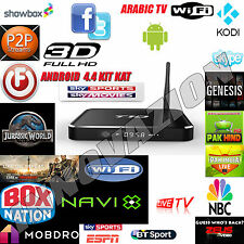 T10 QUAD CORE SMART TV BOX ANDROID 4.4 4K MEDIA PLAYER MINI PC KODI completamente caricato