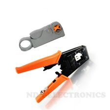 Compression Coax Connector Crimping Crimper RG59 RG6 F BNC RCA Stripper Tool Kit
