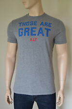Nueva Abercrombie & Fitch Indian Falls Heather gris Humor Tee camiseta Xxl