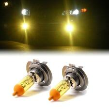 YELLOW XENON H7 HEADLIGHT HIGH BEAM BULBS TO FIT Peugeot 307 MODELS