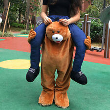 Adults Fancy Dress Carry Me Teddy Bear Mascot Costume Pants Ride On Piggy Back