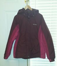 Columbia XL - Burgundy & Pink Parka Winter Coat - With Hood!