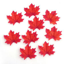50 Artificial Autumn Maple Leaf Fall Silk Leaves Favor Wedding Decoration  #home