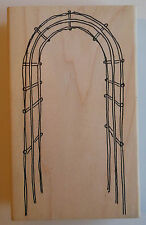 Garden Trellis Rubber Stamp - Wood Mounted