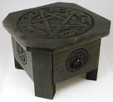 "7"" Celtic Pentagram Altar Table with Drawer!"