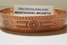 WESTERN ARROW COPPER MAGNETIC THERAPY BANGLE CUFF FOR PAIN! PRO HEALTH HEALING
