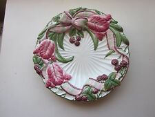 Fitz and Floyd Blackberry Rabbit Canape Plate 9.75""