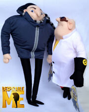 2X Despicable Me Character Gru & Dr.Nefario 3D Movie Plush Toy Stuffed Animal