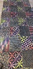 "5 Yards x 48"" Unique,Traditional Handmade Batik Art  Fabric by Nigerian Artist/M"