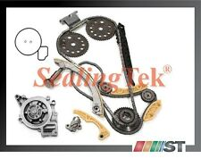 Fit 2000-11 GM 2.0L 2.2L DOHC Ecotec Engine Timing Chain Gear Kit w/ Water Pump