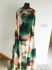 South Seas Sunset tropical Palm Print Washed Chiffon Dressmaking Fabric 2016