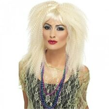 Ladies 1980s Blonde Crimped Curly Fancy Dress Costume Wig 80s 23160