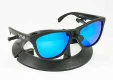 OAKLEY FROGSKINS MATTE BLACK FRAME W/ REVANT ICE BLUE POLARIZED CUSTOM LENSES
