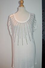 Lovely 'Via Appia'  Ladies White Long Sweater/Tunic Size 44 BNWT ORIGINALLY  £59