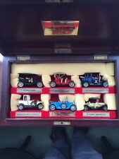 Matchbox Diecast 1980's YESTERYEAR collection in Walnut Colour Wood Case