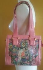 ICON LOS ANGELES GUSTAV KLIMT PINK MULTI-COLOR LEATHER SHOULDER BAG
