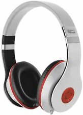 HIGH QUALITY TRUST URBAN REVOLT BAZZ 18533 WHITE & RED HEADSET, INTEGRATED MIC