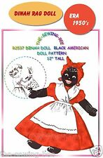 Dinah - Black Mammy Rag Doll Pattern with outfit Vintage - # 2537