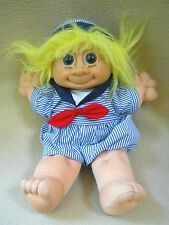 "Russ Berrie plush & rubber Sailor Navy 11""  TROLL Doll"
