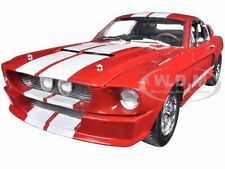 1967 FORD SHELBY MUSTANG GT 500 RED W/ WHITE STIPES 1/18 CAR GREENLIGHT 12928
