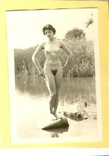 "D301 # VINTAGE PHOTO su ""agfa lupex"" 1960`s Nude Pin-Up Girl NSI Nudist atto NUDO"