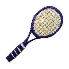 ID 1560 Purple Tennis Racket Racquet Sports Embroidered Iron On Applique Patch