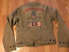 Polo Ralph Lauren M41 USA American flag dragon pea coat jacket military 18th L
