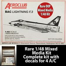 Aeroclub 1/48 Scale BAC Lightning F.3 Limited Edition Rare OOP Mixed Media Kit