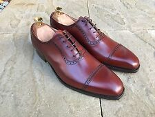Crockett & Jones Westbourne Oxford Derby Shoes Chestnut Calf UK 7.5 BNIB