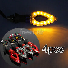 4X 12 LED UNIVERSAL MOTORBIKE MOTORCYCLE TURN SIGNAL INDICATORS LIGHT LAMP AMBER