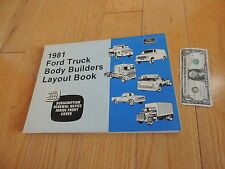 1981 FORD TRUCK BODY BUILDERS LAYOUT BOOK SERVICE MANUAL
