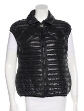 Authentic CHANEL Black Quilted 'CC' Logo Down Vest - 46