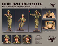 1/35 Scale resin model kit D9R Bulldozer Crew - IDF 2000 Era (3 Figures)