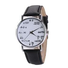 Unique Women Mens Math Operation Analog Stainless Steel Watch Wrist Watches